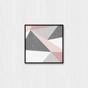 Quadro Decorativo Geometria Triangular