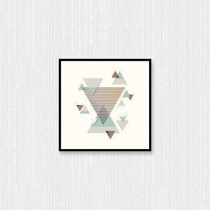 Quadro Decorativo Triângulos Espaciais