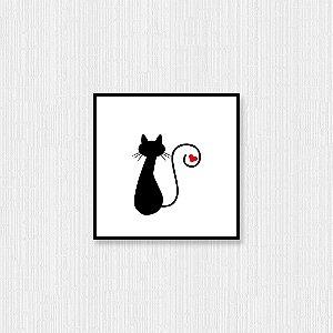 Quadro Decorativo Rabo do Gato