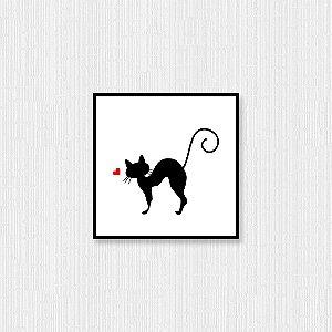 Quadro Decorativo Gato Manhoso