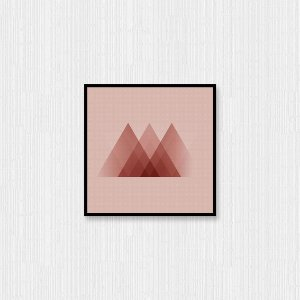 Quadro Decorativo Pirâmides Sobrepostas