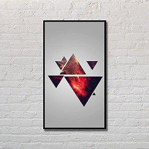 Quadro Decorativo Triângulos Refletidos