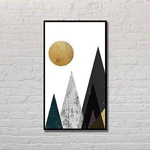 Quadro Decorativo Montanhas Abstratas