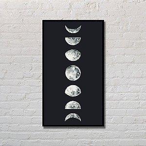 Quadro Decorativo Fases da Lua Noturno