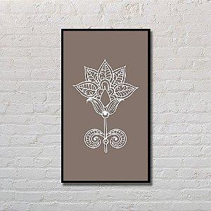 Quadro Decorativo Orquídea Branca