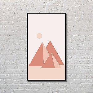 Quadro Decorativo Pirâmides Monocromáticas