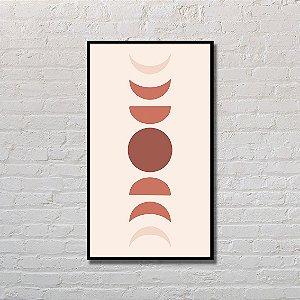 Quadro Decorativo Fases da Lua Monocromático