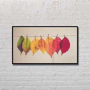Quadro Decorativo Folhas no Varal
