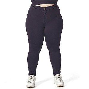 Calça Legging Sandra Plus Size com Botão