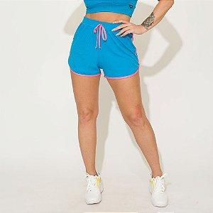 Shorts Canelado Jessi Azul