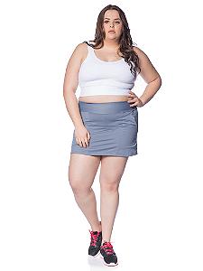 Saia Shorts Ketlyn Plus Size Cinza
