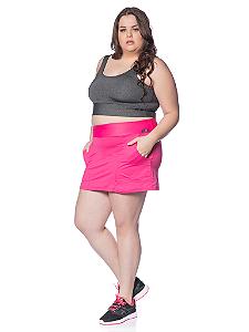 Saia Shorts Ketlyn Plus Size Rosa