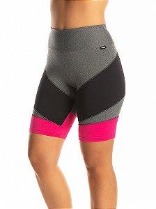 Bermuda Janfer Sport ciclista Liliti com bolso embutido Rosa