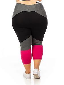 Corsário Plus Size Janfer Sport Liliti com Bolso Embutido Rosa