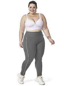 Legging Jade Plus Size Mescla / Branco