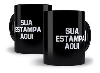 36 unidades de Caneca Personalizada Porcelana Preta
