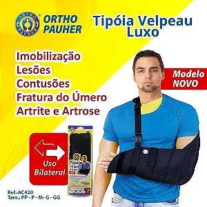 Tipóia Velpeau Luxo  Cor Preta - Ortho Pauher