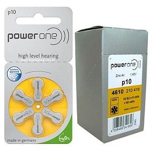 6 Baterias P 10 Pr70 Aparelho Auditivo - Power One