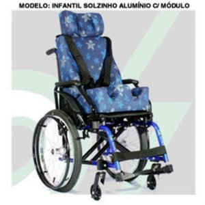 Cadeira de Rodas Infantil Solzinho Alumínio