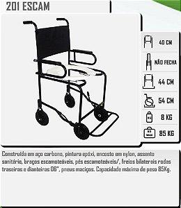 Cadeira Higiênica Escamoteável