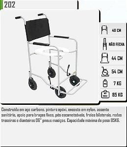 Cadeira Higiênica com Pés Escamoteáveis