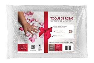 Travesseiro Látex Toque de Rosas Fibrasca