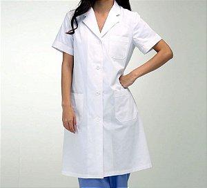 Avental Branco Manga Curta