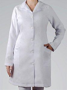 Avental Branco com Maga Longa