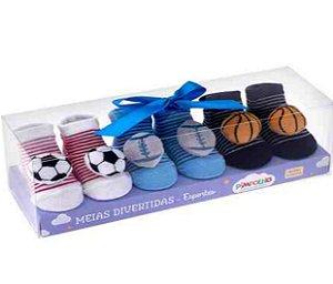 Kit com 3 meias divertidas Masculino Pimpolho - RN