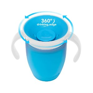 Copo 360º Azul  com tampa Munchkin