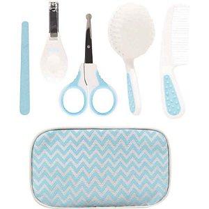 Kit Cuidados pente e cortador de unha com estojo Azul Buba