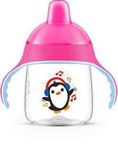 Copo Pinguim 260 ml  Rosa Avent