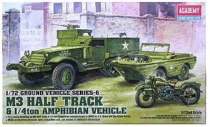 Academy - M3 Half Track & 1/4ton Amphibian Vehicle - 1/72