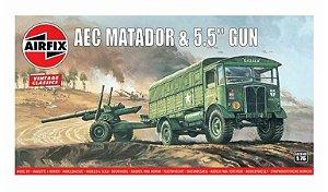 AIRFIX - AEC MATADOR & 5.5' GUN - 1/76
