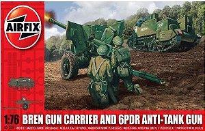 AIRFIX - BREN GUN CARRIER & 6PDR ANTI TANK GUN - 1/76