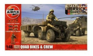 AIRFIX - BRITISH FORCES QUAD BIKES/CREW - 1/48