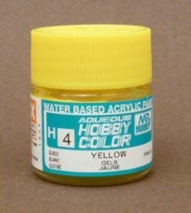 Gunze - Aqueous Hobby Colors 004 - Yellow (Gloss)