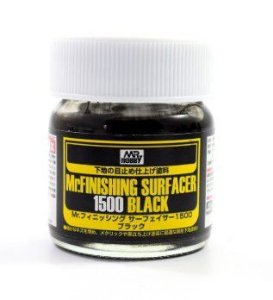 GUNZE - MR. FINISHING SURFACER 1500 BLACK - PRIMER PRETO 40ml