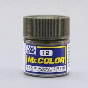 Gunze - Mr.Color 012 - Olive Drab (1) (Semi-Gloss)