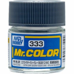 Gunze - Mr.Color 333 - Extra Dark Seagray BS381C-640 (Semi-Gloss)