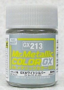 Gunze - Mr.Metallic Color GX213 - White Silver (Metallic)