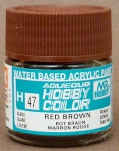 Gunze - Aqueous Hobby Colors 047 - Red Brown (Gloss)