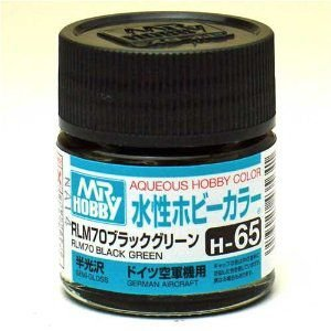 Gunze - Aqueous Hobby Colors 065 - RLM70 Black Green (Semi-Gloss)