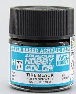 Gunze - Aqueous Hobby Colors 077 - Tire Black (Flat)