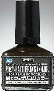 Gunze - Mr.Weathering Color 02 - Ground Brown 40ml