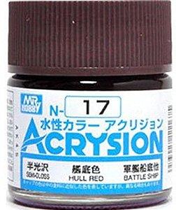 Gunze - Acrysion Color 017 - Hull Red (Semi-Gloss)