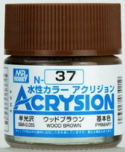 Gunze - Acrysion Color 037 - Wood Brown (Semi-Gloss)
