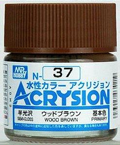 Gunze - Acrysion Color 037 - Wood Brown (Semi-Gloss)