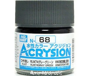 Gunze - Acrysion Color 068 - RLM74 Gray Green (Semi-Gloss)