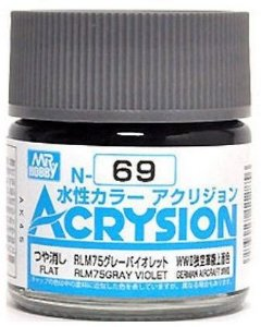 Gunze - Acrysion Color 069 - RLM75 Gray Violet (Semi-Gloss)
